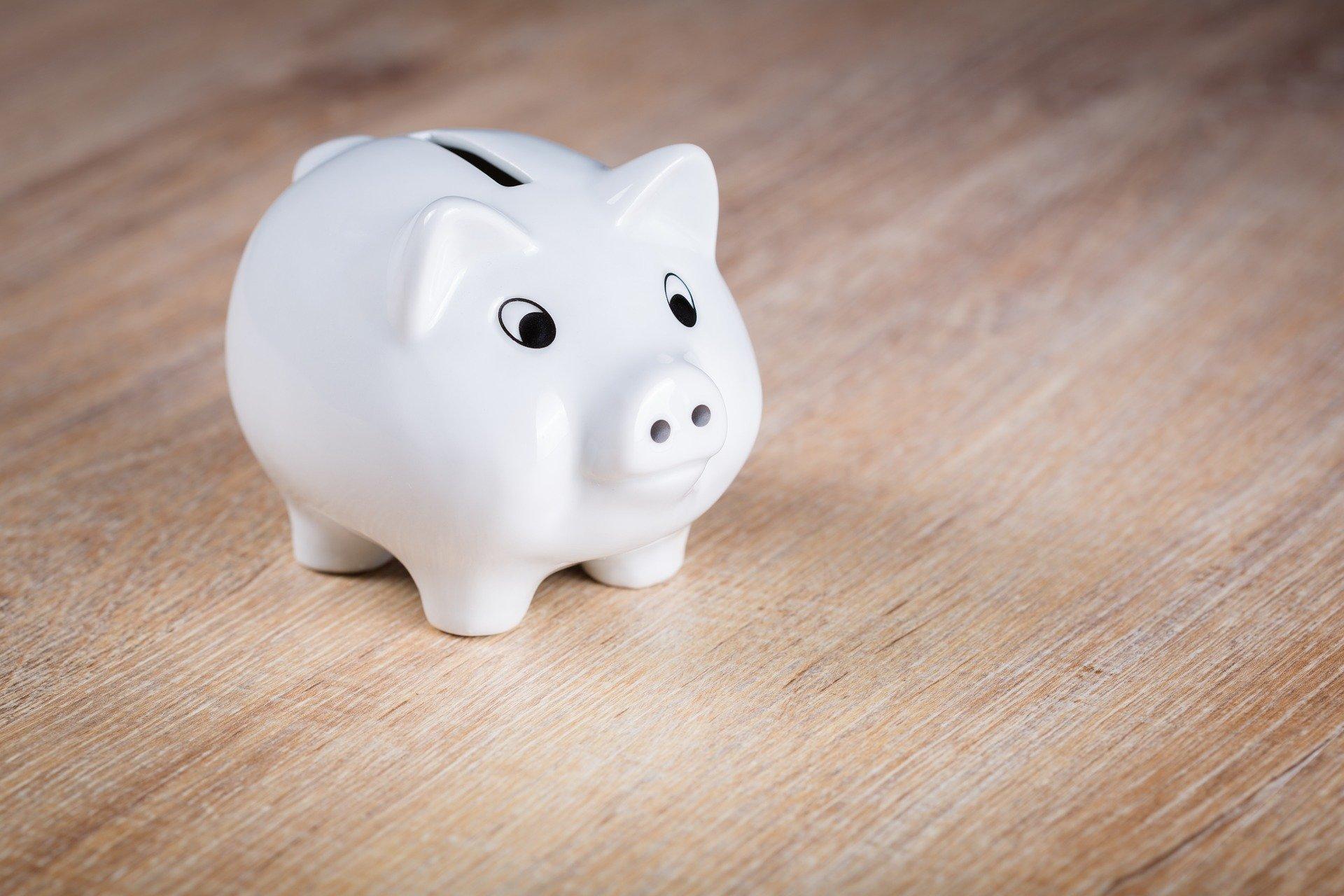 Ein Sparschwein ist ein erster Anfang zu einer hohen Sparquote