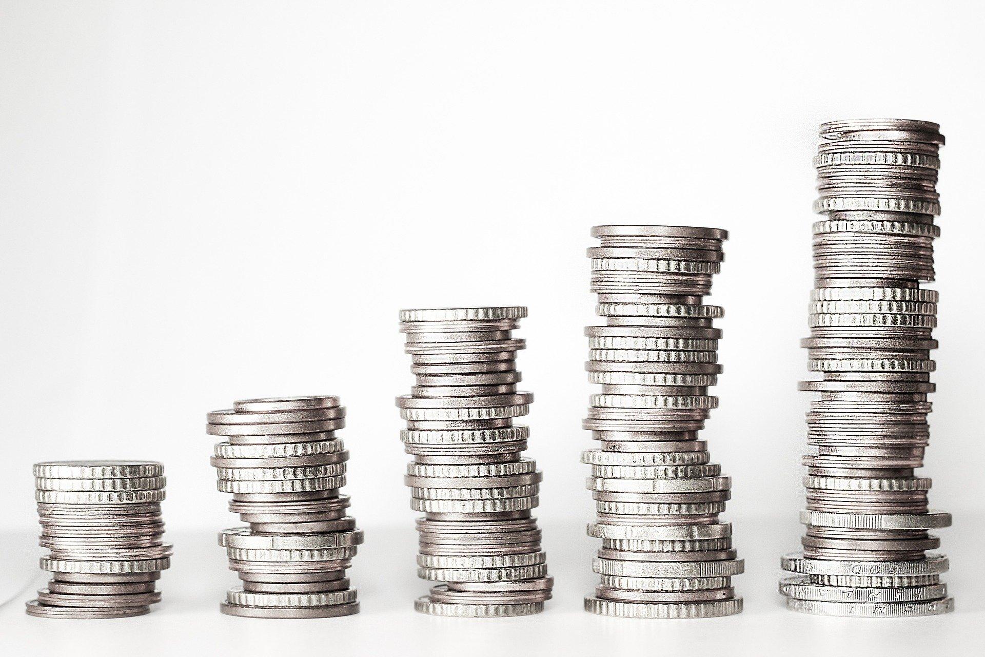 Wachsendes Einkommen in der Monatsübersicht