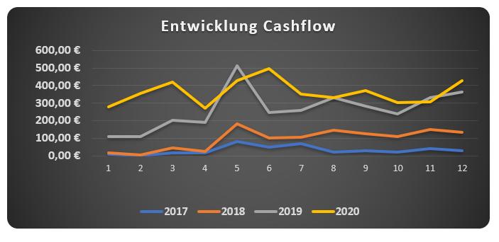 Cashflow in der Monatsübersicht Dezember 2020
